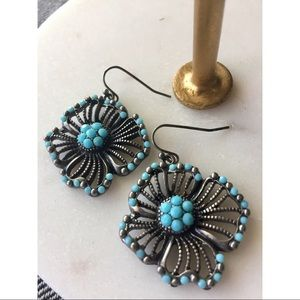 LUCKY BRAND Turquoise Metal Flowers